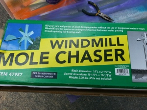 A windmill mole chaser-what a great idea!