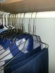 Wire coat hanger from my hubby's closet