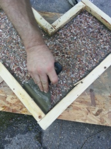 Take putty knife and push in the edges about a 45 degree angle