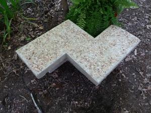 garden bench, concrete bench, aggragate concrete garden bench