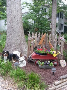 random yard potting area 122