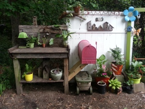 My potting bench and mailbox for tools-2 must haves