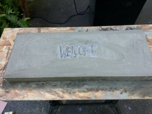 concrete bench top