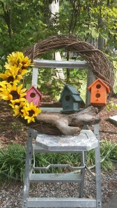 I had 3 birdhouses. I do things in odd numbers. a designer told me this years ago.