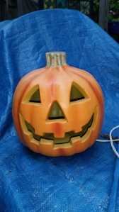this is a hard plastic pumpkin