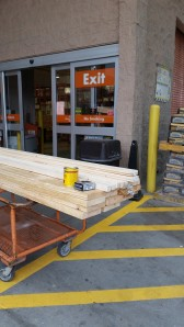 Home Depot for the 2x12s
