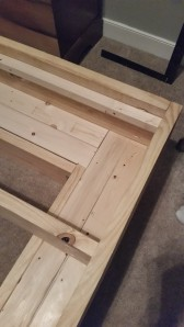 We used a 2x2 around the edges so the plywood would have an edge to rest on