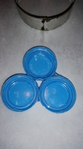 glued lids for flower