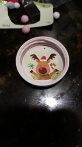 stuck a sticker inside one of the Gatorade lids