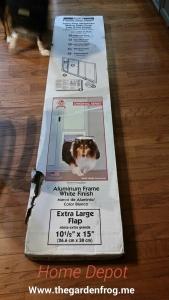 Home Depot aluminum patio dog door, Ideal pet door