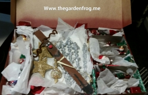 Upcycle gift boxes into ornament and holiday décor storage