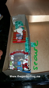 I used the ornaments as a guide for the size of each divide and secured with the duct tape