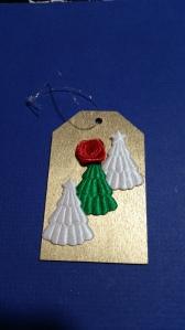 teacher gift, secretary gift, ornament tag, wooden ornament gift tag