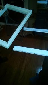 Home Depot aluminum patio dog door modification
