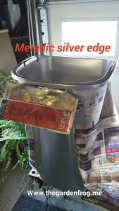 Rustoleum metallic silver spray paint