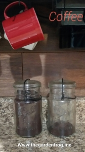 Ball jar, coffee storage,