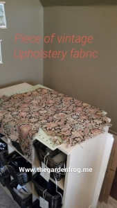 vintage fabric, hassock