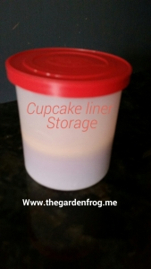 Kitchen tip for cupcake liner storage for the pantry