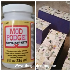 Mod Podge, trunk makeover, wardrobe trunk makeover