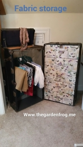 Wardrobe trunk transformation makeover