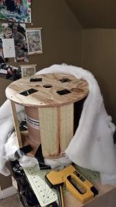 vintage inspired foot stool