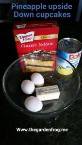 Dole pineapple upside down cake, Duncan Hines yello cake mix,