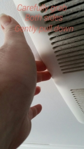 cleaning bathroom vents