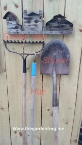garden tools, shovel, rake, hoe