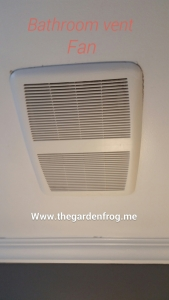 cleaning bathroom vent fan