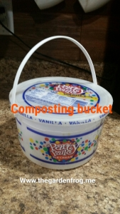 I have to buy ice cream in the bucket every so often so I have a compost pail