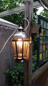 garden lantern turned light