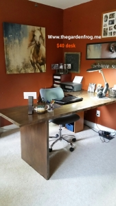 Build a wood L-shaped desk for under $50