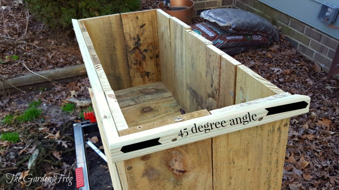 Create a rustic garden planter box
