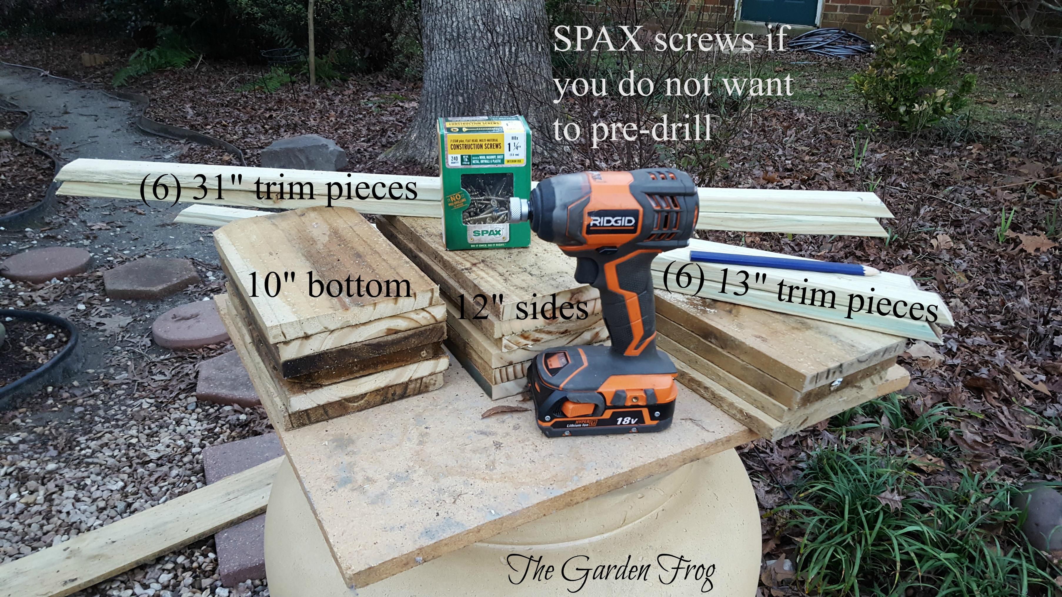Create a rustic garden plantr box