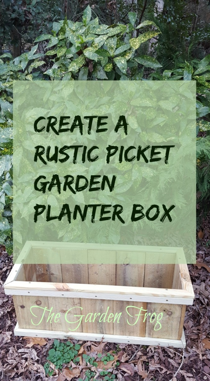Create a rustic picket garden planter box